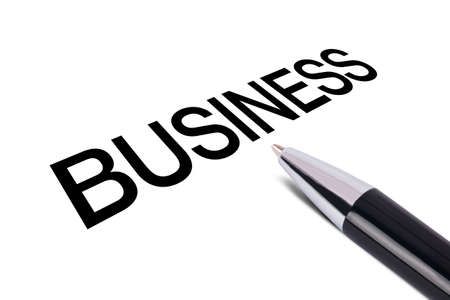 writing black: Business text writing, black pen, isolated on white background.
