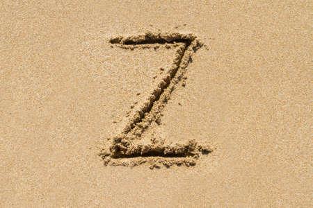 upper case: Letter Z of the alphabet written on sand with upper case.