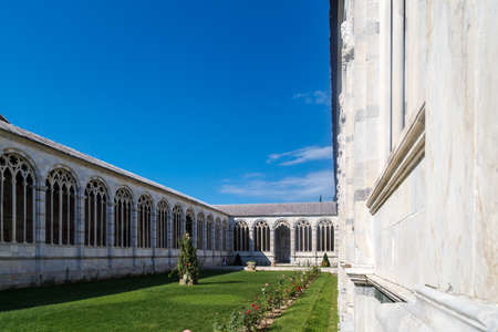 12th century: View of Camposanto Monumentale, known as monumentale cemetery, built in 12th century, in Pisa Cathedrale Square. Editorial