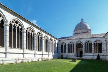 cathedrale: View of Camposanto Monumentale, known as monumentale cemetery, built in 12th century, in Pisa Cathedrale Square. Editorial