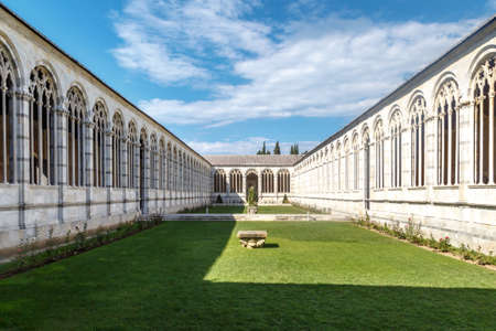camposanto: View of Camposanto Monumentale, known as monumentale cemetery, built in 12th century, in Pisa Cathedrale Square. Editorial
