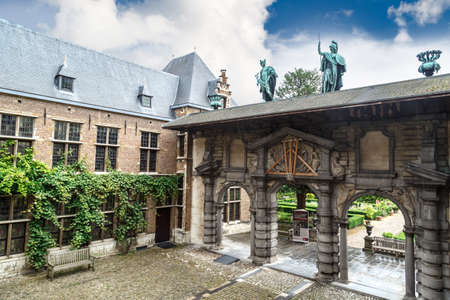 ANTWERP, BELGIUM - JULY 5, 2016 : Exterior view of Peter Paul Rubens House. Rubens is famous Flemish Baroque painter and lived in this building until his death. 에디토리얼