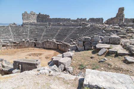 View of Xanthos Ancient City in Turkey. Stock Photo