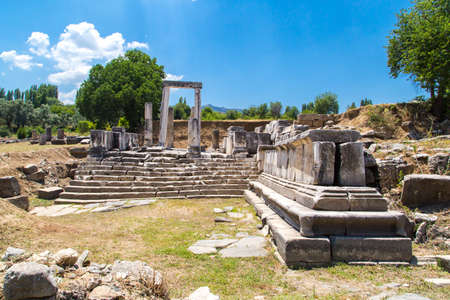 Ruins of Hecate Temple in Lagina, Mugla. Stock Photo
