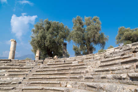 archaeologies: Historical heritage, Nysa ancient city in Aydin, Turkey.