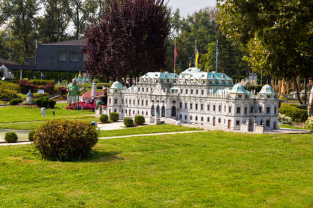 KLAGENFURT, AUSTRIA - SEPTEMBER 15, 2016 : Minimundus one of the most popular tourist attractions and excursion parks of Carinthia. Minimundus was opened in 1959 and have miniature world sights in. Editorial