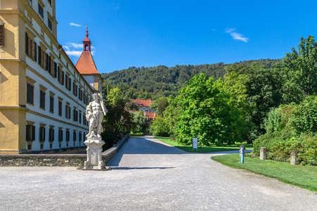 Eggenberg Palace and garden in Graz, Styria region of Austria. Editorial