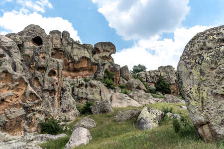 Landscape view of Phrygia valley in the middle of Turkey. Stock Photo
