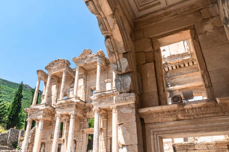 Celsus library in Ephesus ancient city ruins.