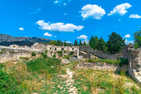 Oldest town in Neretva Canton of Bosnia and Herzegovina. Archeological area has been settled since ancient times. 스톡 콘텐츠 - 132968337