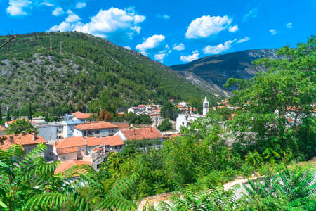 Oldest town in Neretva Canton of Bosnia and Herzegovina. Archeological area has been settled since ancient times. 스톡 콘텐츠 - 132968618