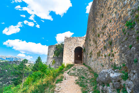 Oldest town in Neretva Canton of Bosnia and Herzegovina. Archeological area has been settled since ancient times. 스톡 콘텐츠 - 133069856