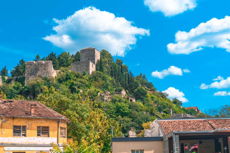 Oldest town in Neretva Canton of Bosnia and Herzegovina. Archeological area has been settled since ancient times. 스톡 콘텐츠 - 133069879