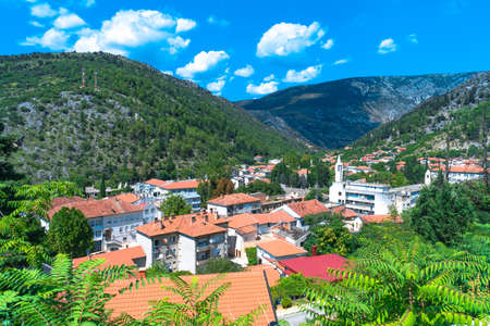 Oldest town in Neretva Canton of Bosnia and Herzegovina. Archeological area has been settled since ancient times. 스톡 콘텐츠 - 133069893