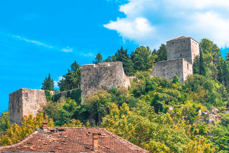 Oldest town in Neretva Canton of Bosnia and Herzegovina. Archeological area has been settled since ancient times. 스톡 콘텐츠 - 133069917