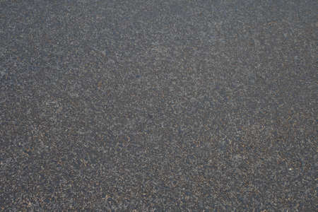 The new asphalt. Close-up. Stock Photo