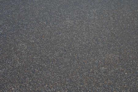 The new asphalt. Close-up. Stock Photo