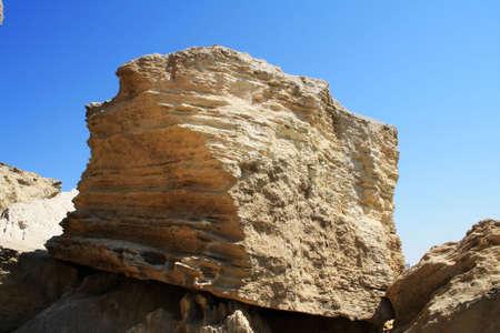 A view of the cliffs, Cape Cretaceous. Close-up.