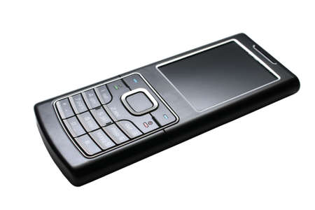 Mobile phone. Close-up. Isolated on a white background.
