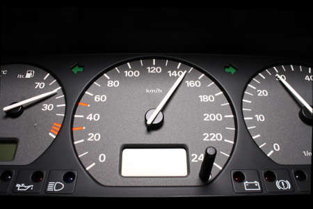 Instrument panel from the car. Close-up.