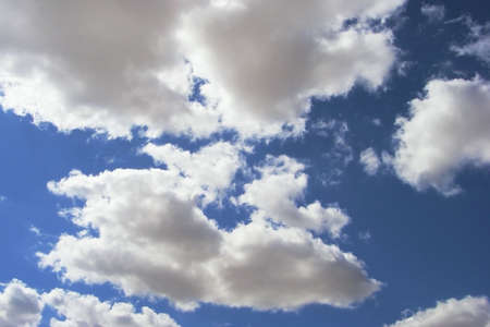 Clouds against the blue sky day. photo
