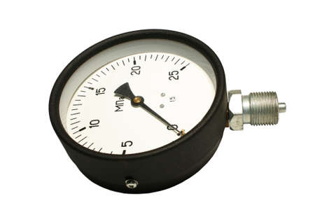 Manometer. Close-up. Isolated on a white background. Stock Photo