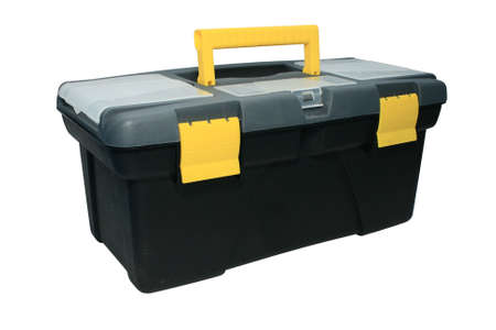 Tool box. Close-up. Isolated on a white background.