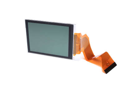 LCD display. Close-up. Isolated on a white background. Stock Photo