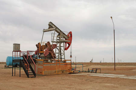 Oil pumps. Western Kazakhstan. Month of June. Day. Stock Photo - 7510266