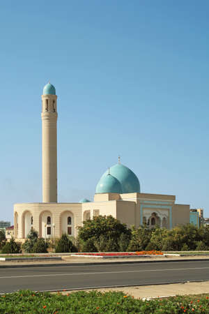 The mosque in the city of Aktau. Stock Photo