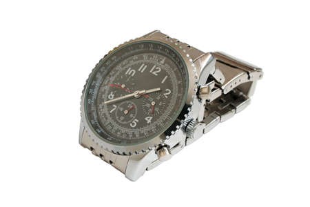 Mens mechanical watches. Closeup, isolated on a white background. photo