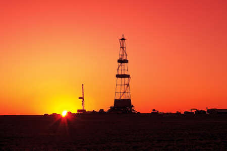 Drilling sunset. photo