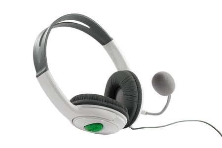 aural: Headphones.
