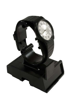 gents: Gents Wristwatch Black On stand