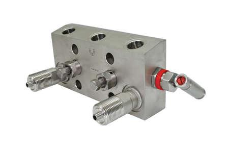 manifold: Block manifold. Stock Photo
