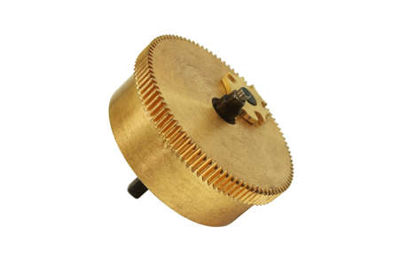 toothed: Toothed Brass Gear Wheel