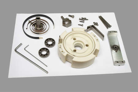 Components Of Disassembled Potentiometer photo