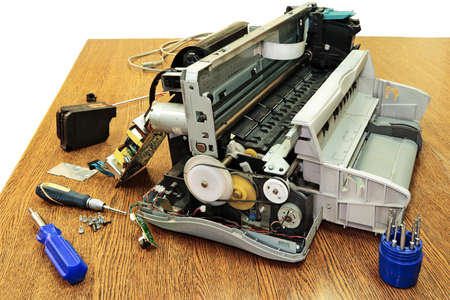 Disassembled the printer  Stock Photo