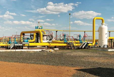 Process unit gaz  Stock Photo
