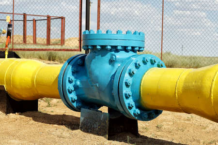 Check valve in the gas pipeline