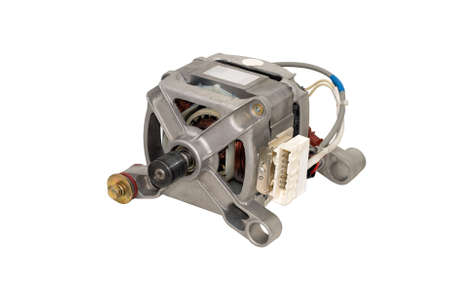 Electric motor from a washing machine  Stock Photo