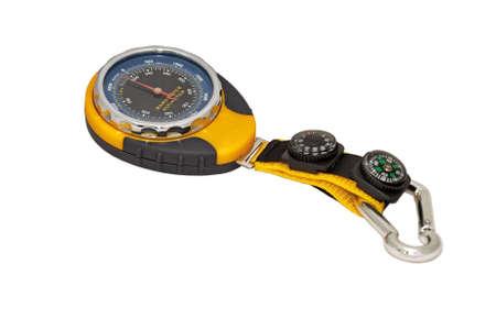 aneroid: Camping barometer  Stock Photo