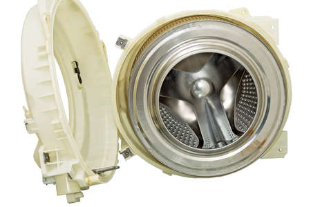 Steel drum of a washing machine  Stock Photo