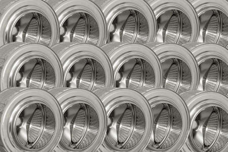 Background of steel drums from the washing machine. Stock Photo - 18267098