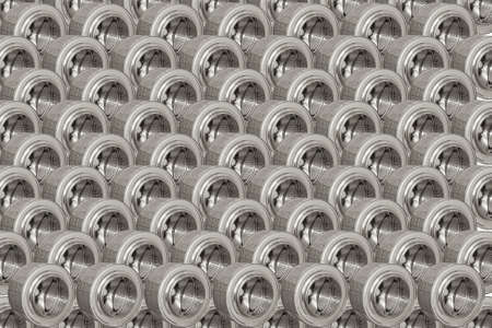 Background of steel drums from the washing machine. Stock Photo - 18267096