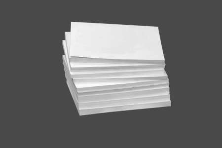 Pile catalogs, isolated on a white background. photo