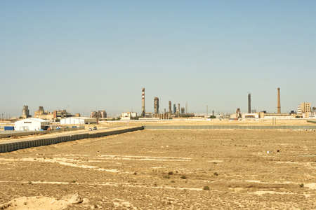desalination: Territory for the construction of the Free Economic Zone in the city of Aktau. The Republic of Kazakhstan. Stock Photo