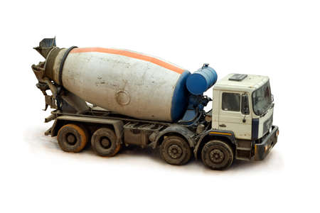 Concrete Mixer Truck on a white background, close up  photo