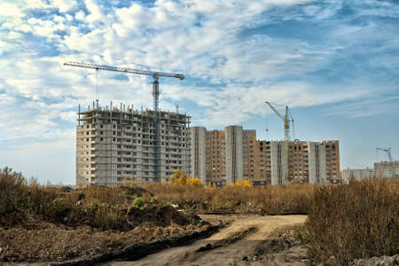 Construction of a multistory building in the city of Lipetsk