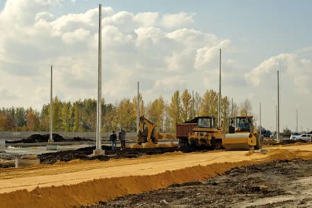 Construction of road in Lipetsk photo